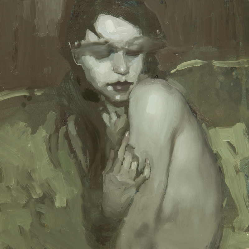 """(SOLD) """"Portrait Study #23"""" 6""""x6"""" Oil"""