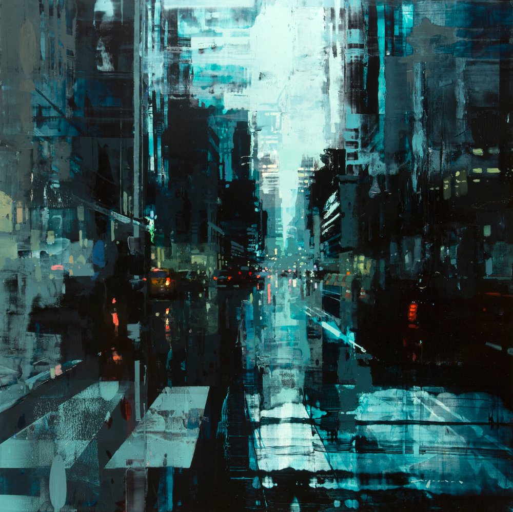 """(SOLD) """"NYC #29"""" 36""""x36"""" Oil"""