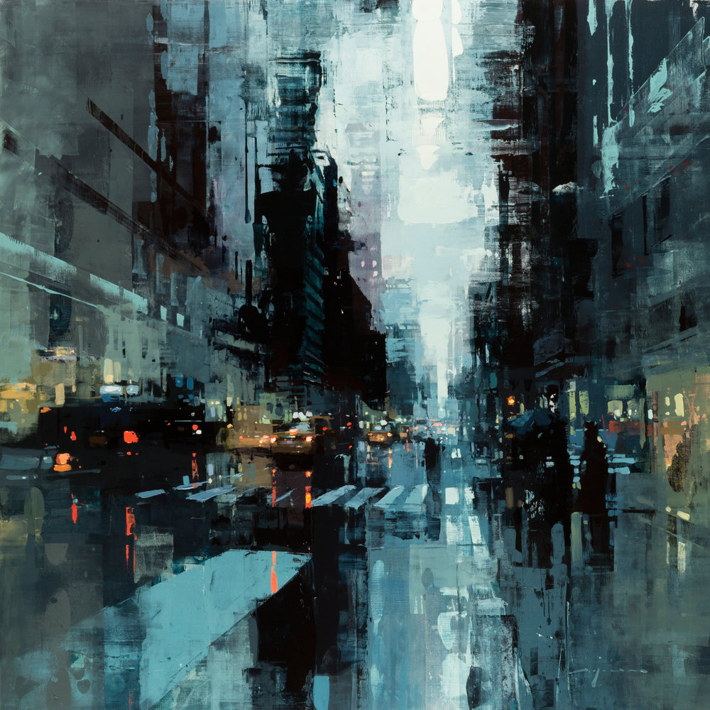 """(SOLD) """"NYC #33″ 36""""x36"""" Oil"""