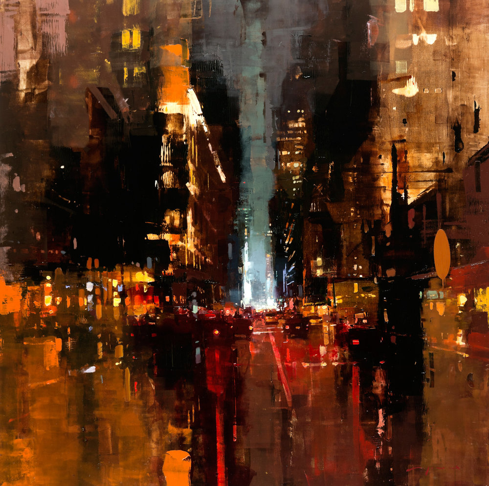 """(SOLD) """"NYC #19″ 30""""x30"""" Oil"""