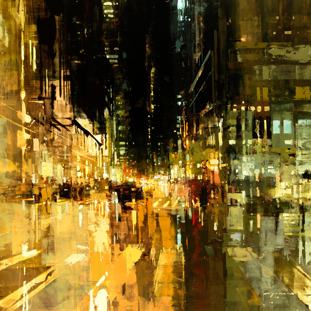 """(SOLD) """"NYC #22″ 36""""x36"""" Oil"""