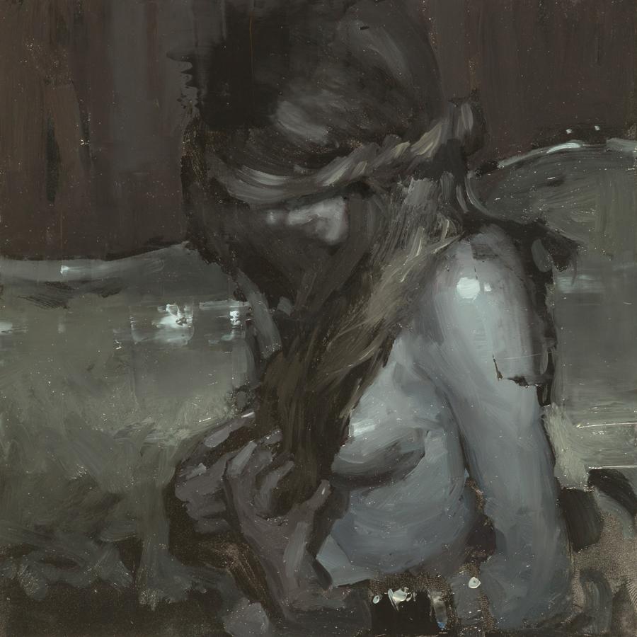 """(SOLD) """"Portrait Study #24"""" 6""""x6"""" Oil"""