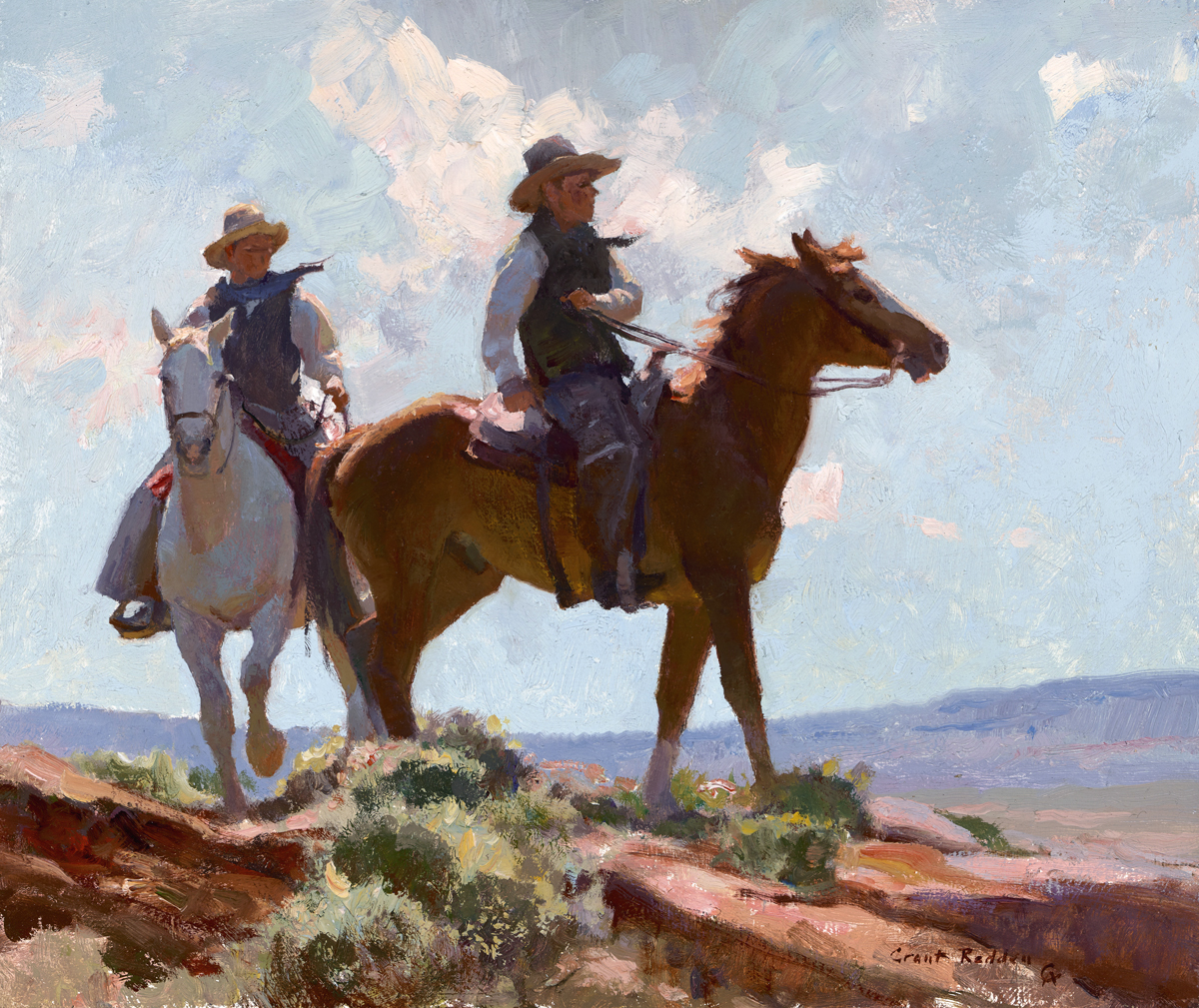 """""""Desert Riders"""" 10""""x12"""" Oil"""