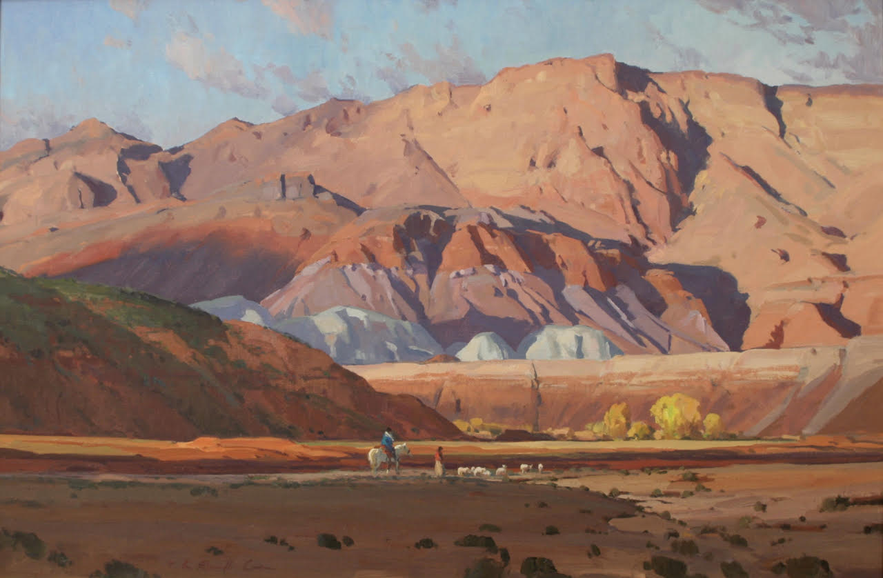 """G. Russell Case %22Evening Salute at Red Wash"""" 24""""x36"""" Oil .jpg"""