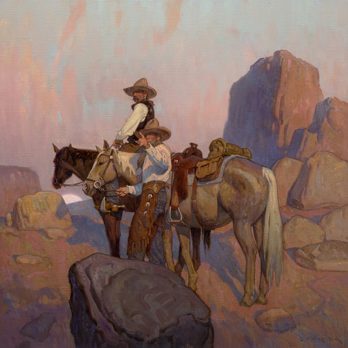 "(SOLD) ""The Searchers"" 24""x24"" Oil"