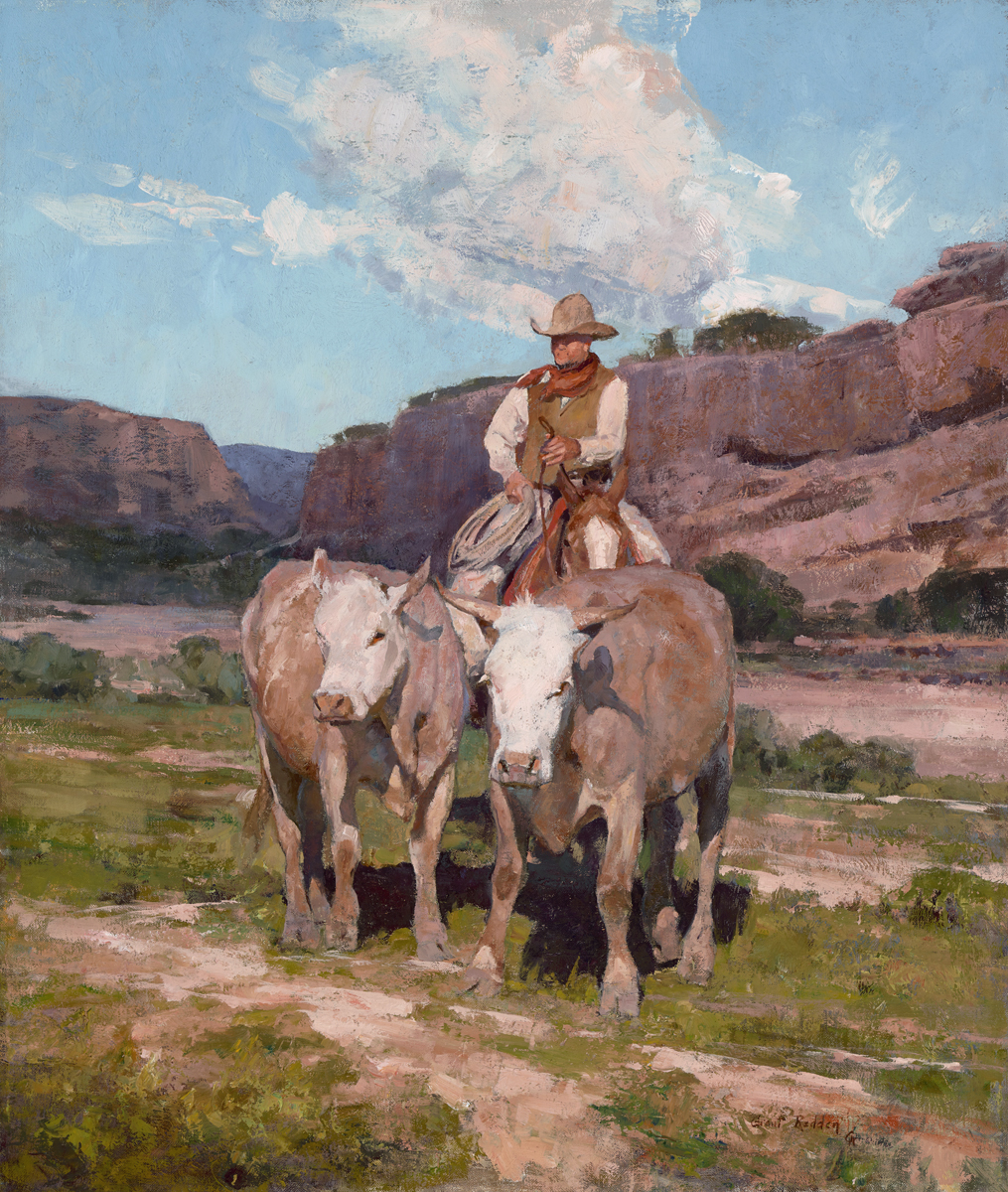 """(SOLD) """"Old Spanish Trail"""" 26""""x22"""" Oil"""