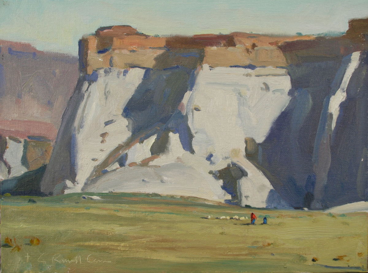 """(SOLD) G. Russell Case""""Tenders at White Rocks"""" 9""""x12"""" Oil"""