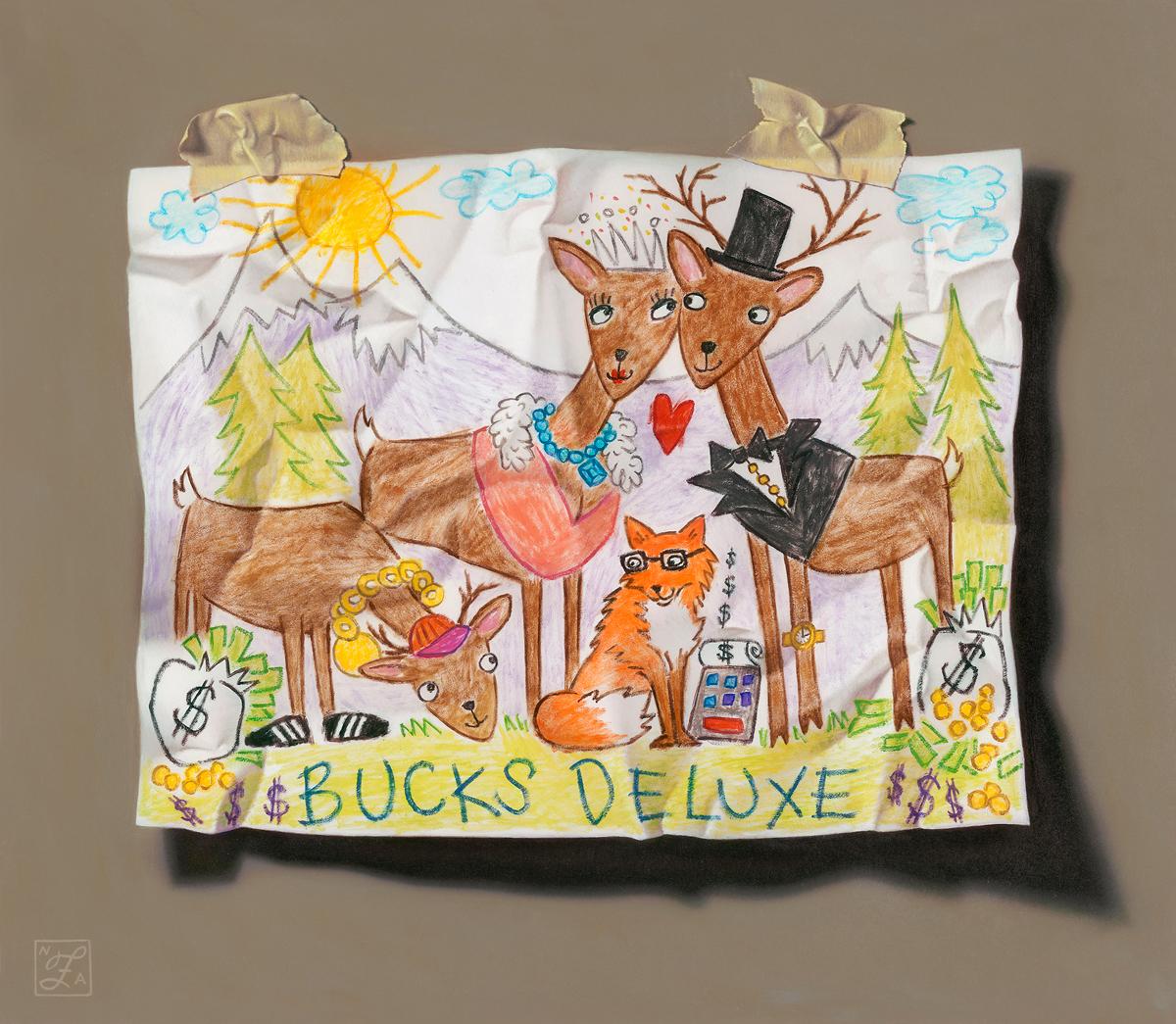 """Natalie Featherston """"Bucks Deluxe""""13"""" x15""""Oil"""