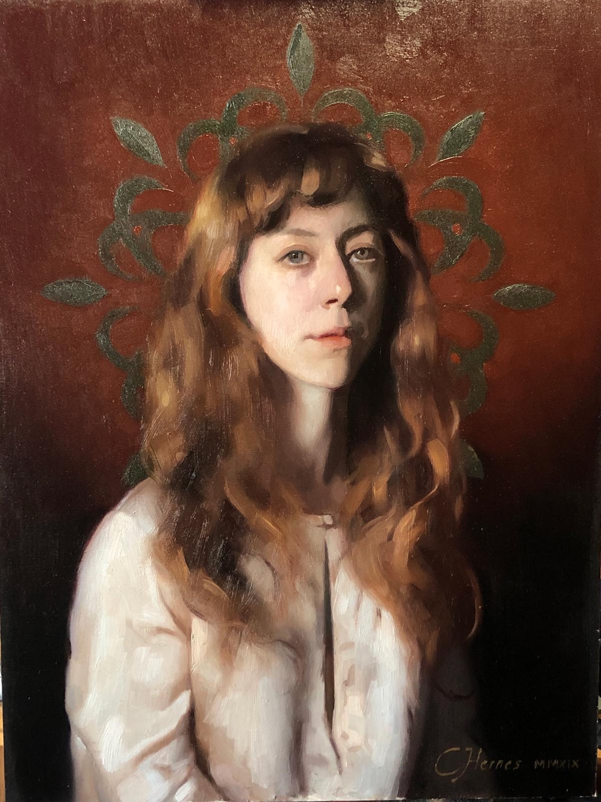 "Cornelia Hernes ""Mandala"" 12"" x 9""Oil"