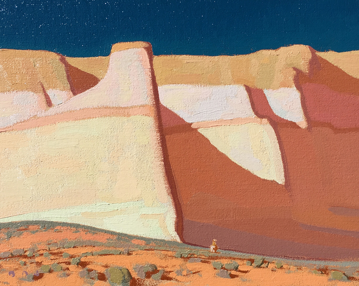 """(SOLD) Brett Allen Johnson """"Into the Canyon""""8""""x10""""Oil"""