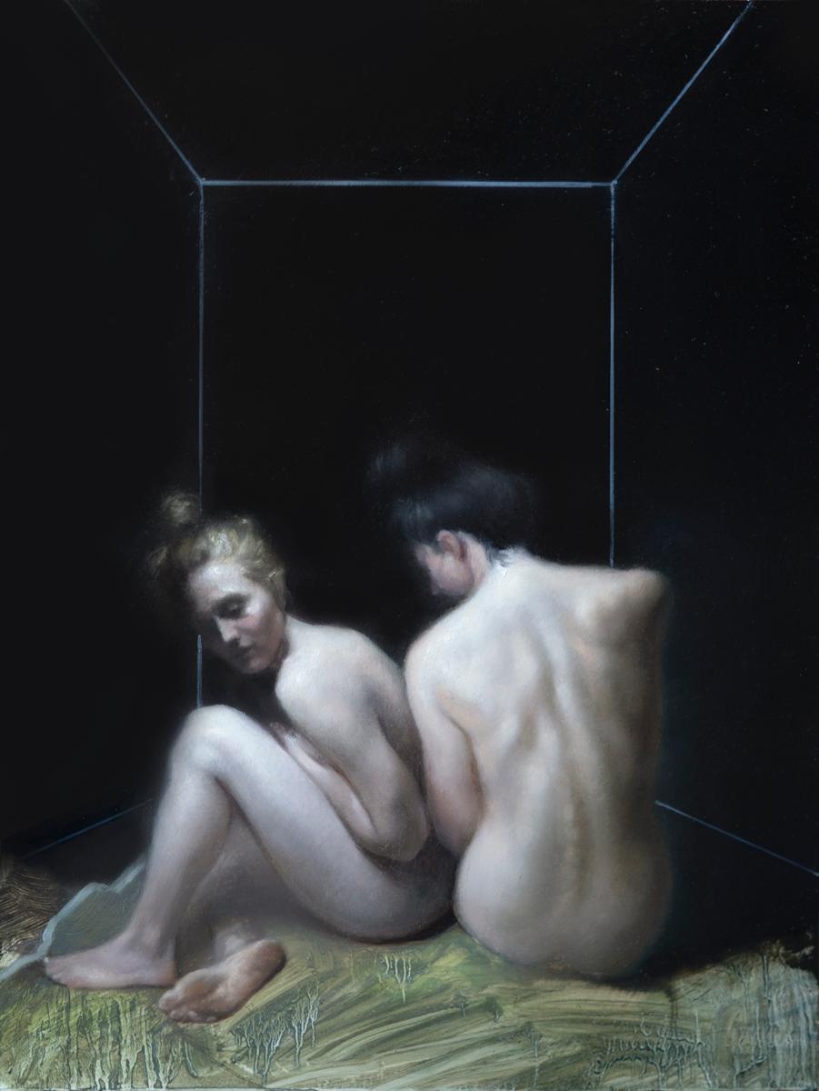 "Maria Kreyn ""Couple II"" 16""x12"" Oil"