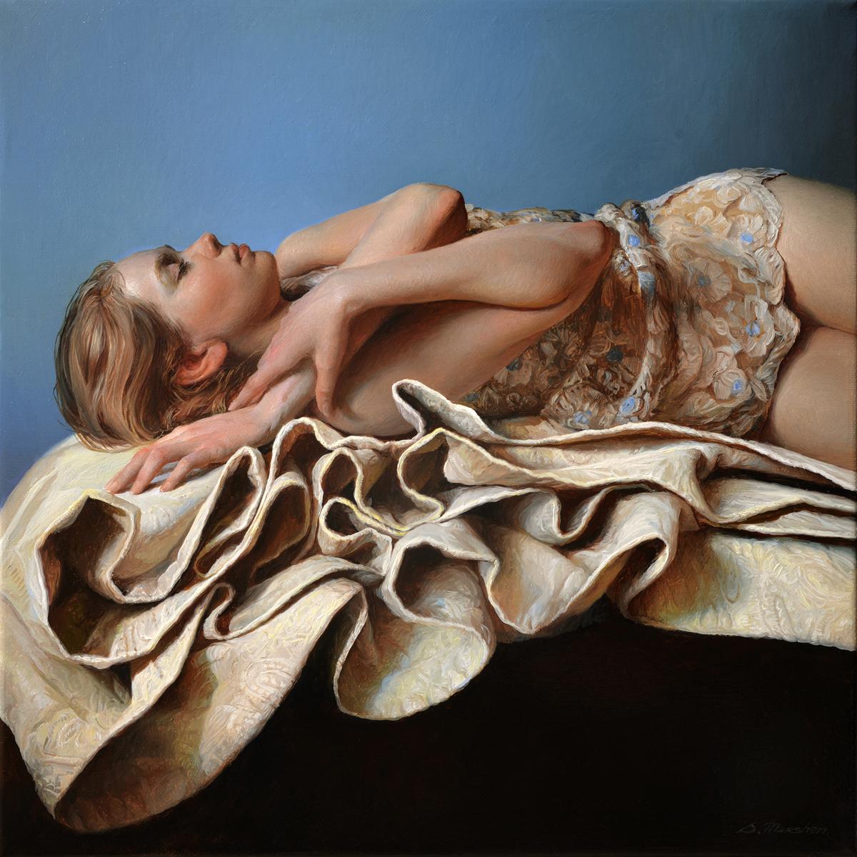 "(SOLD) Serge Marshennikov ""Waves"" 16""x16"" Oil"
