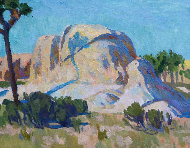 """Eric Merrell """"The Desert and Silence Combined""""11"""" x 14""""Oil"""