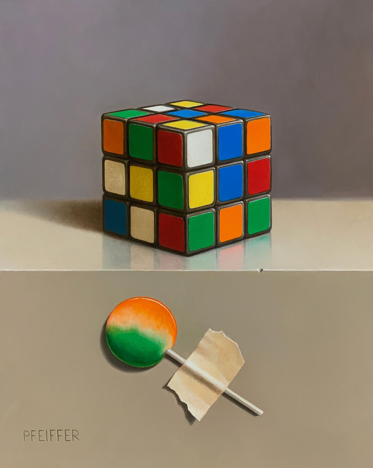 "Jacob Pfeiffer ""Sugar Cube""10"" x 8""Oil"