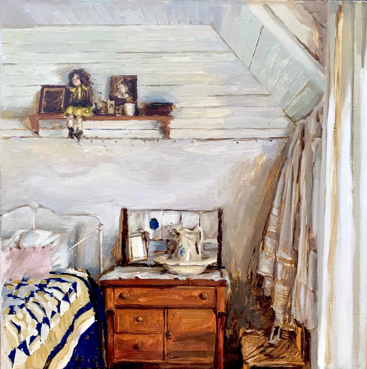 "Mary Sauer ""Pioneer Bedroom12x12""Oil"