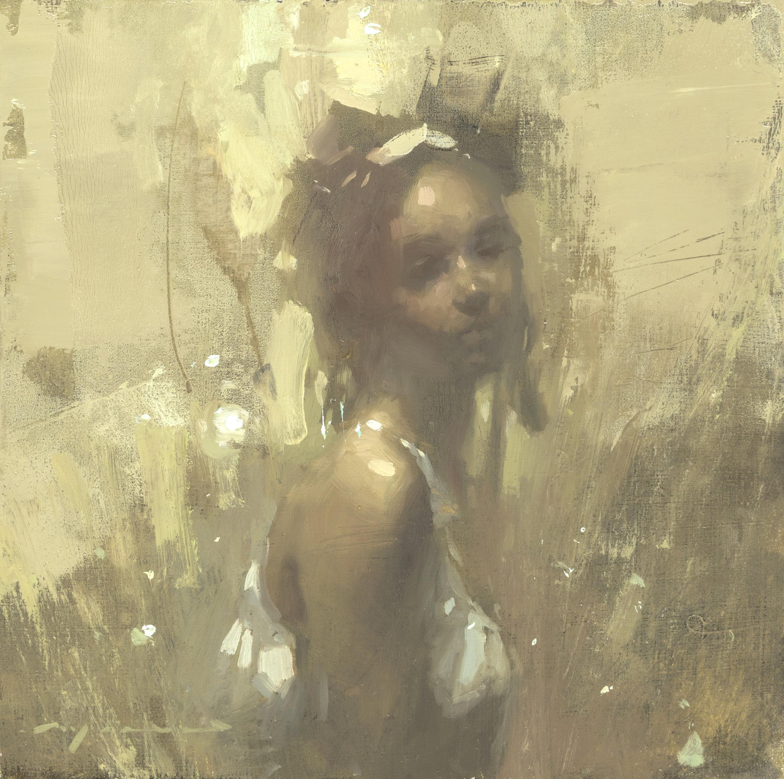 """(SOLD) """"Portrait Study #26"""" 6""""x6"""" Oil"""