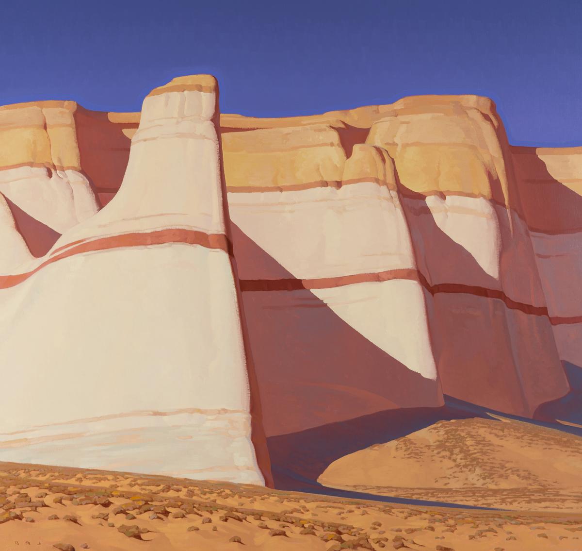 """Brett Allen Johnson """"Of Stone and Sand"""" 36""""x38"""" Oil"""