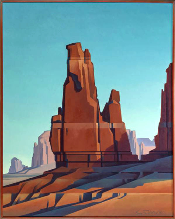 """Ed Mell """"Valley Tower"""" 60""""x48"""" Oil"""