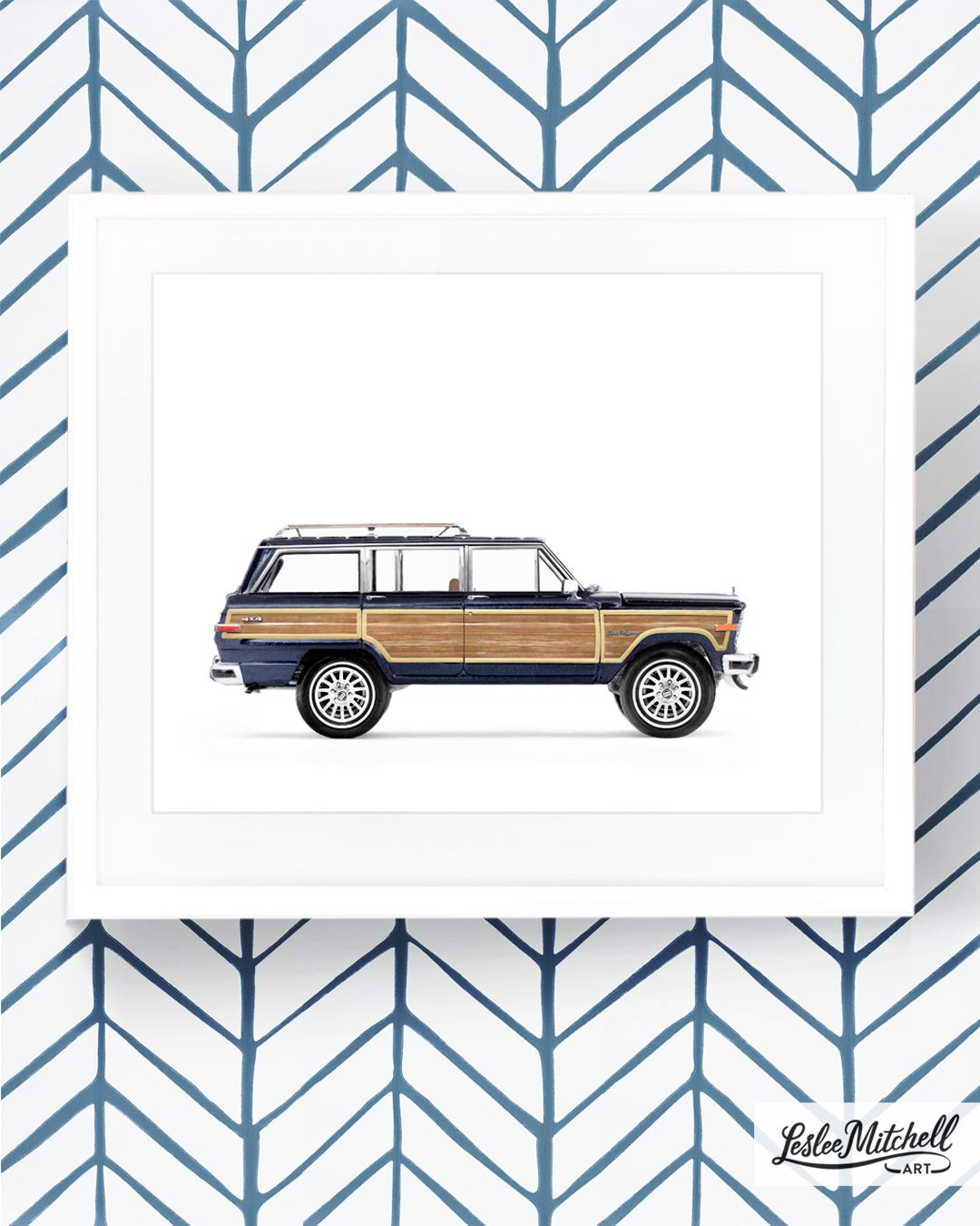 Toy Car Print Toy Truck Print Leslee Mitchell Art