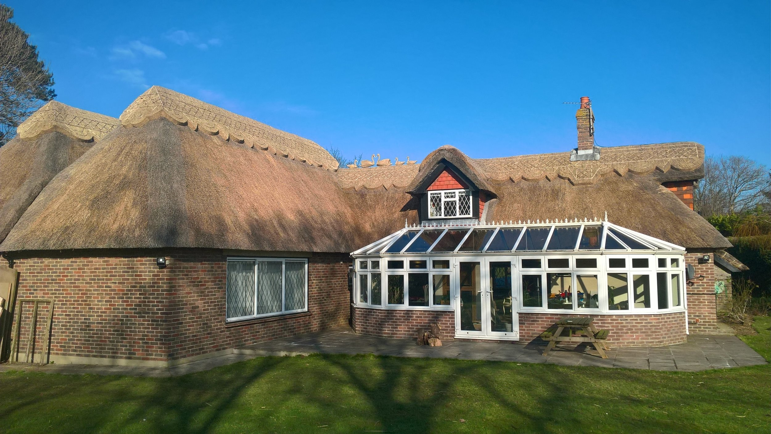 thatched house in west sussex