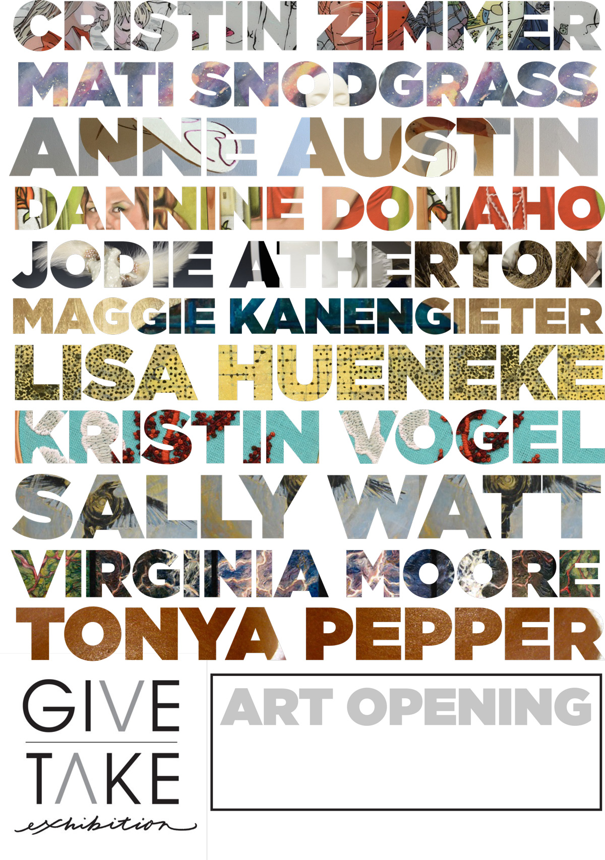 When 11 of Lander's rockstar female artists get together for a group show, then you put their names writ large on the marquee.