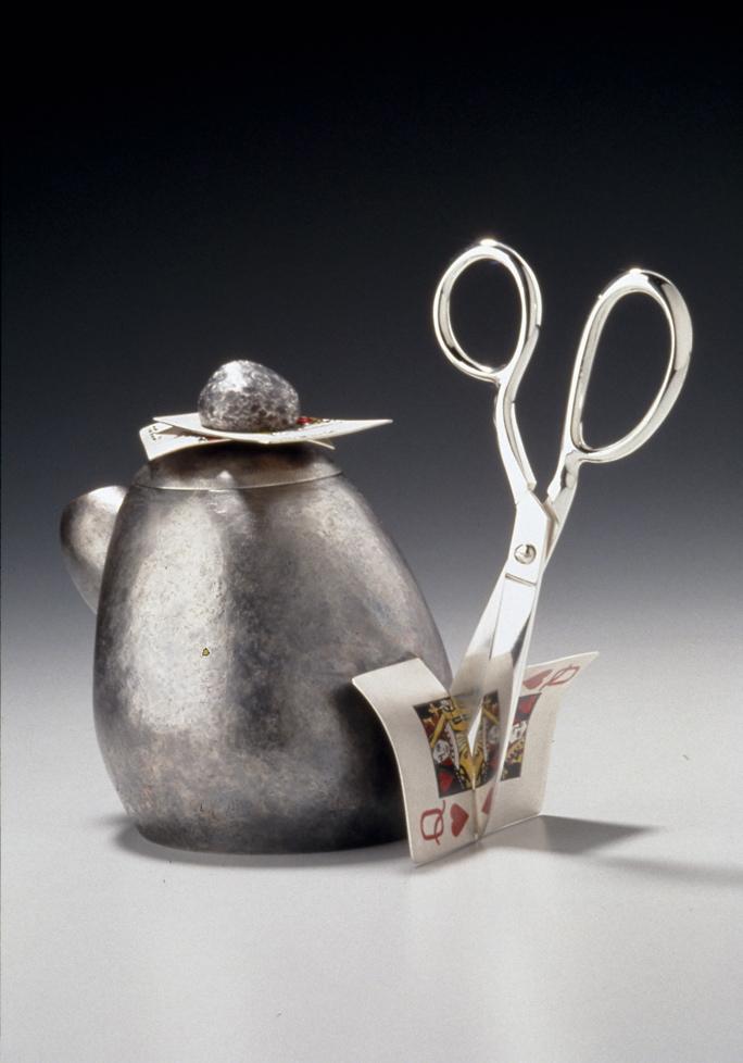 Rock Pair Scissors Teapot