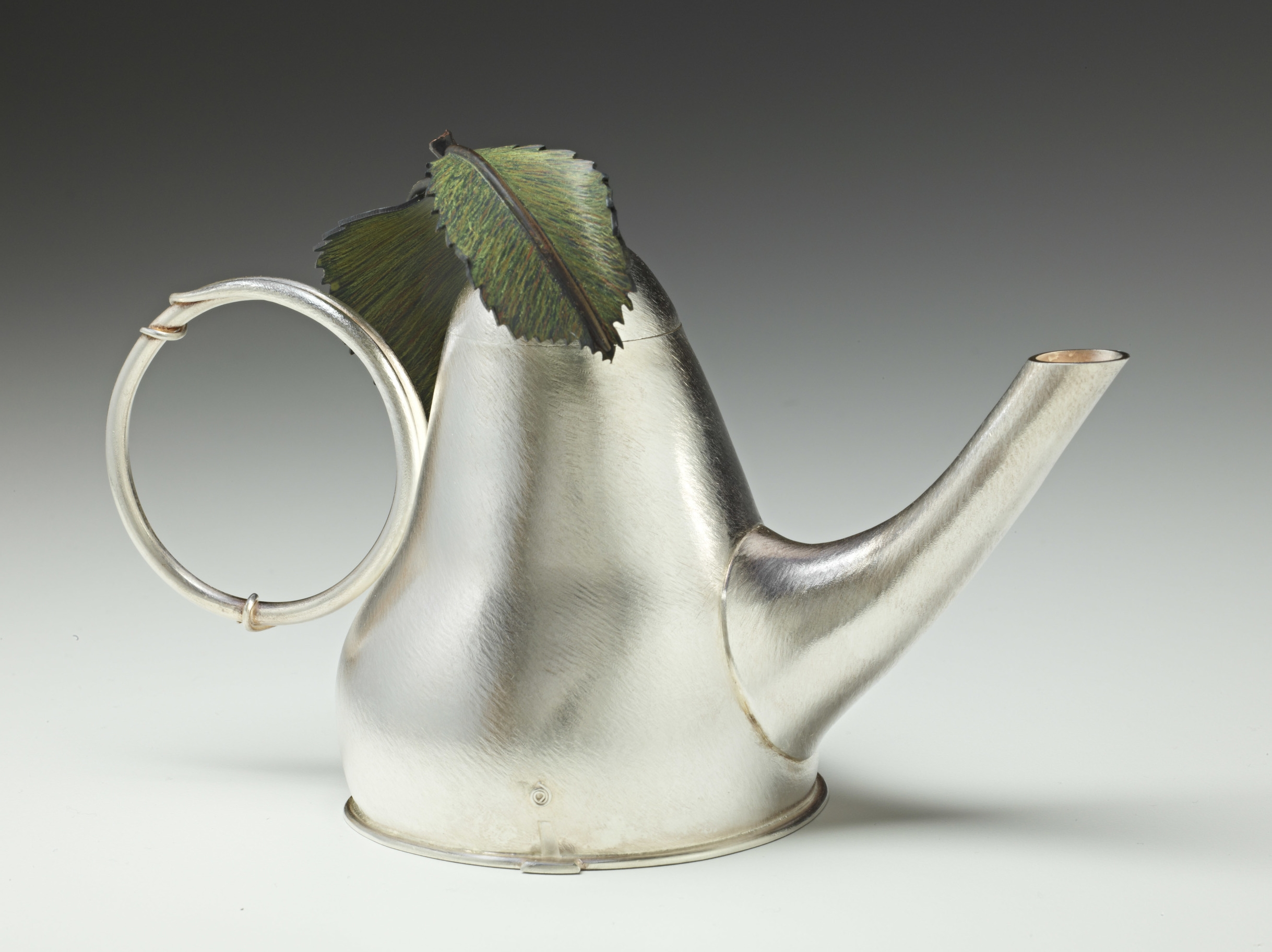 Silver Pear Teapot