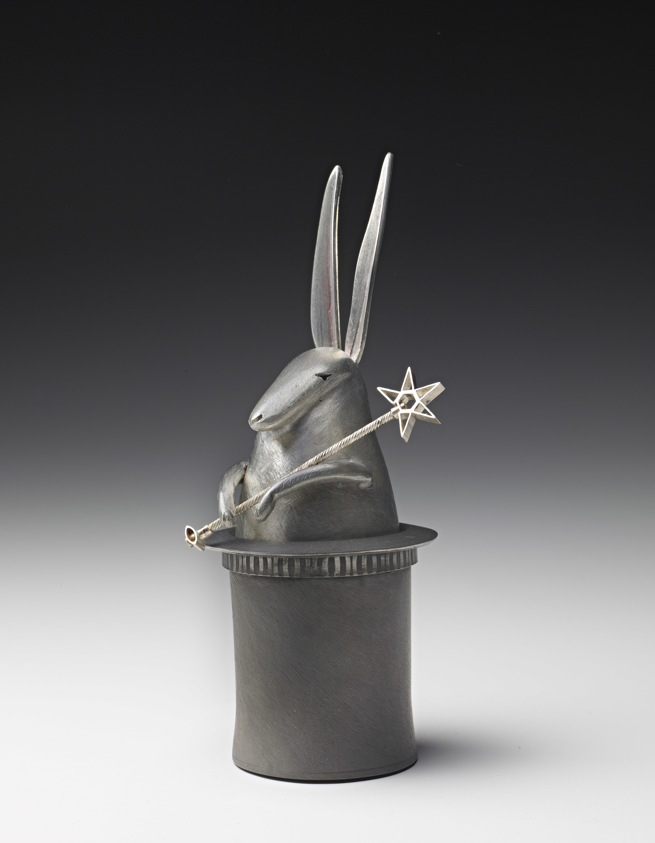 Rabbit in the Hat (salt and pepper shaker)