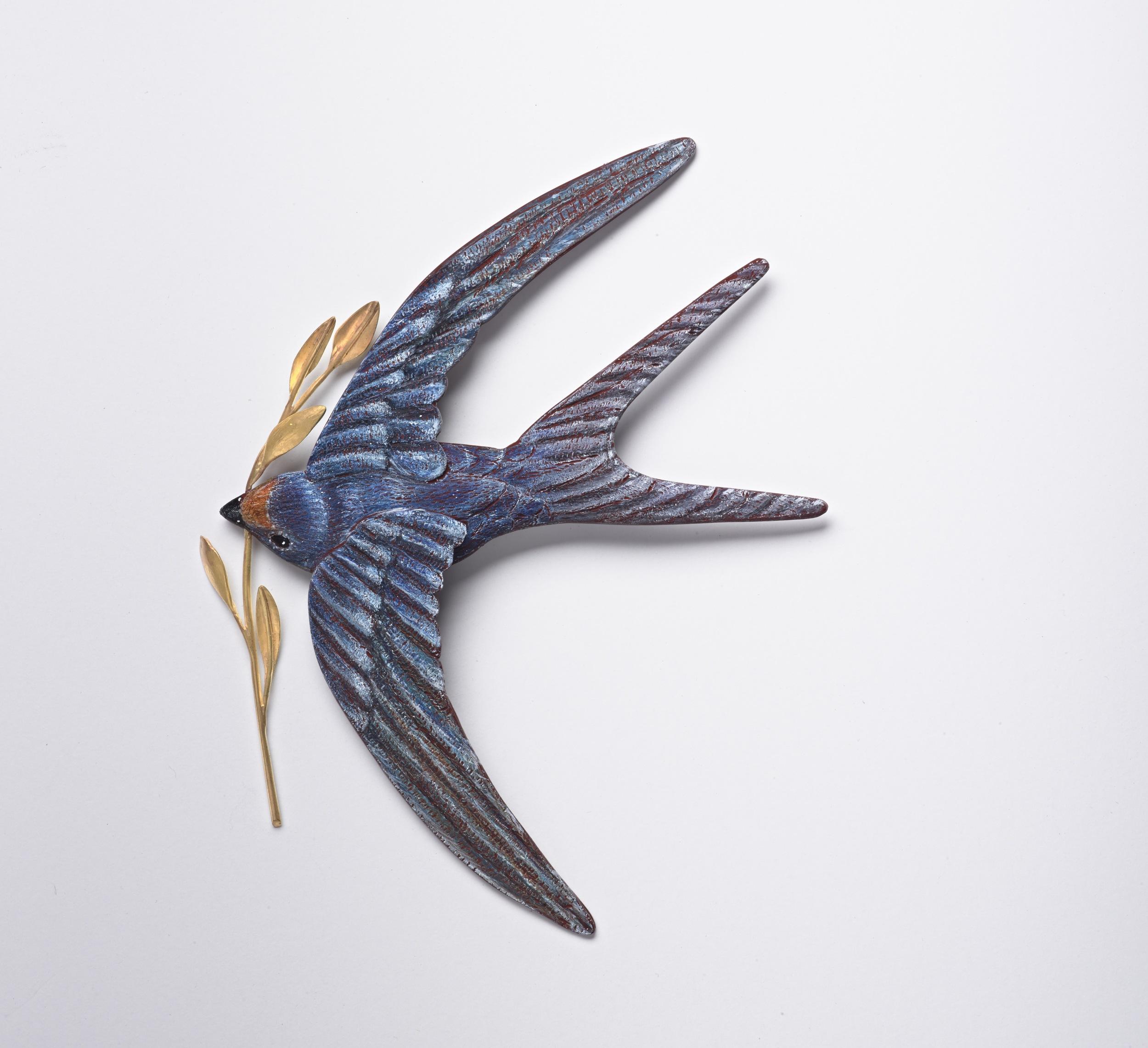 Nesting Swallow Brooch