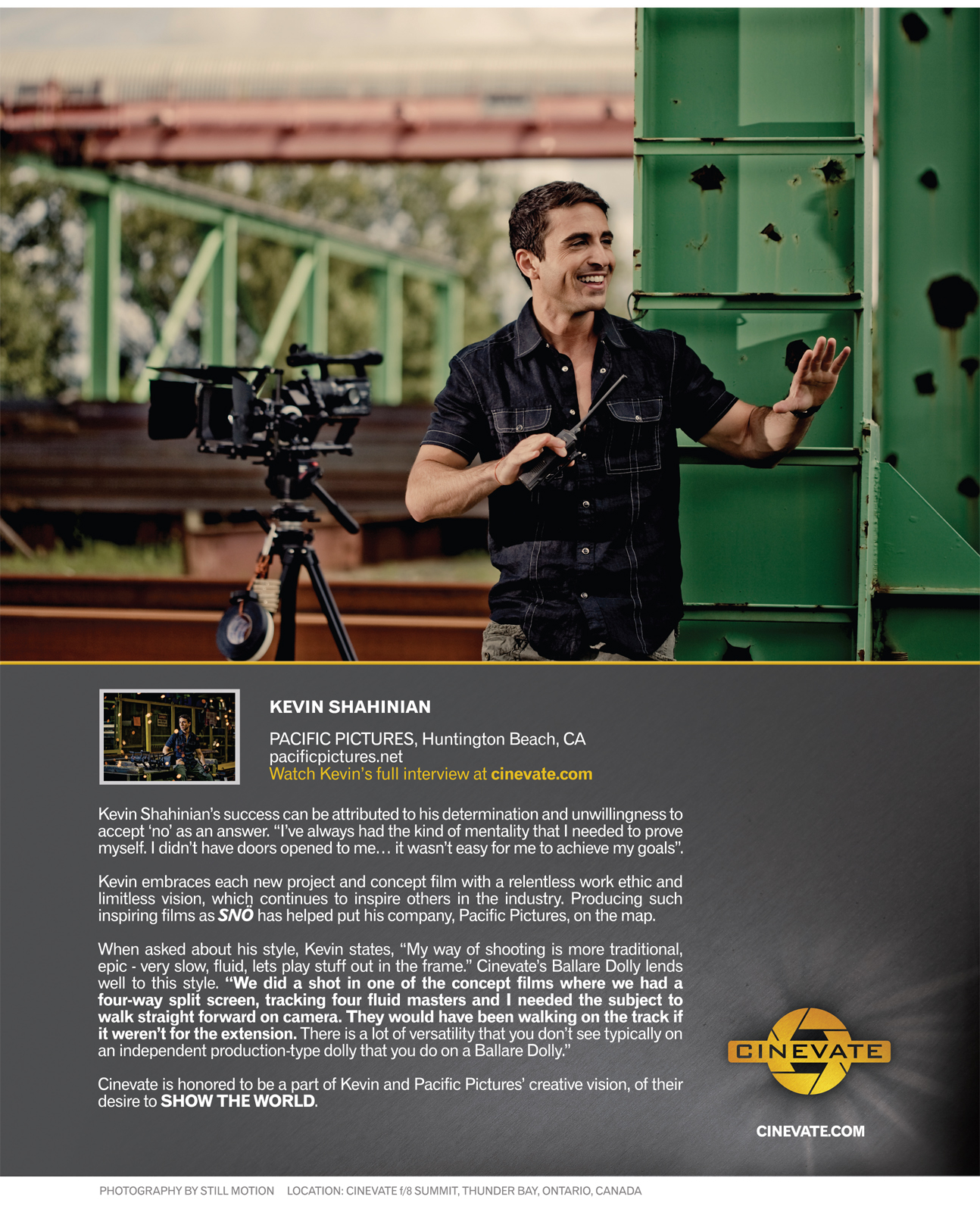 CINEVATE FILMMAKER PROFILE