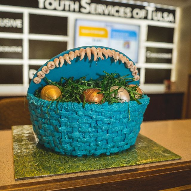 It may look like a basket full of eggs, but I bet this cake tastes EGGScellent! Thanks, T Town Sweets for dropping by such a festive cake! Our youth at the Station will surely love celebrating this months birthdays with it!