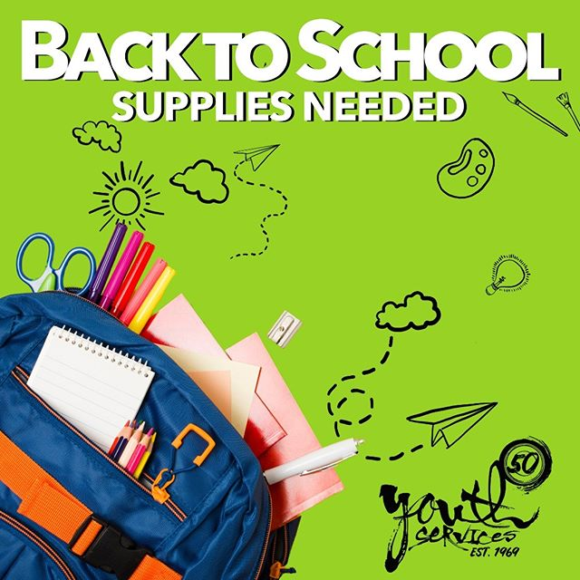 The first day back to school can be stressful for students. Will you help us make the first day back a little less overwhelming for at-risk youth in Tulsa?  We are running low on school supplies and need your help! - Binders - Notebooks - Glue Sticks - Tissues - Pens / Pencils - Backpacks  Donations can be dropped off at our main office at:  311 S Madison Ave Tulsa, OK, 74120 Mon-Thu 8:00-6:00; Fri 8:00-4:30  Thank you for making a difference!
