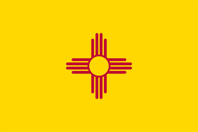 The flag of New Mexico