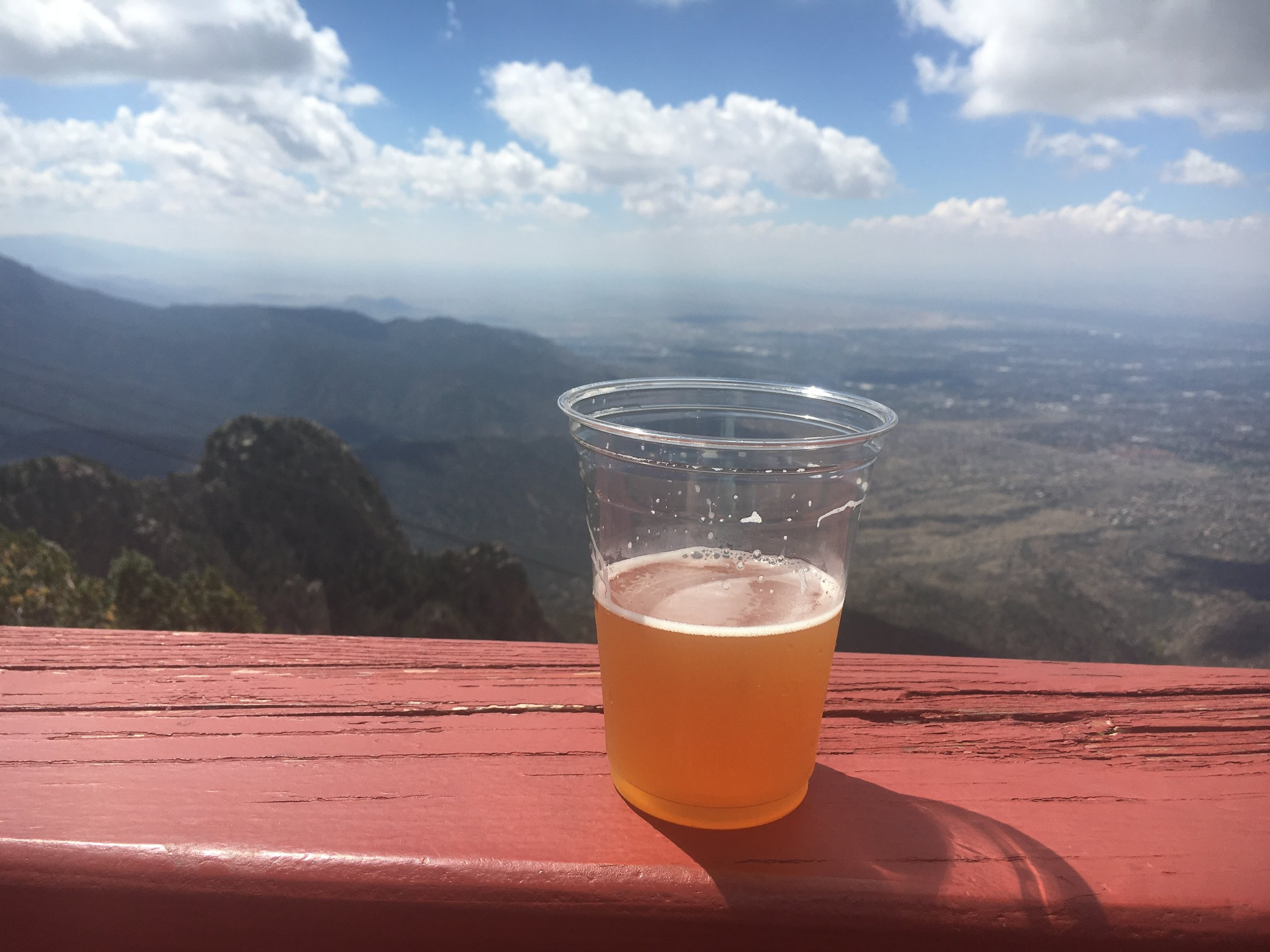 Couldn't pass up a Marble IPA on top of the mountain.