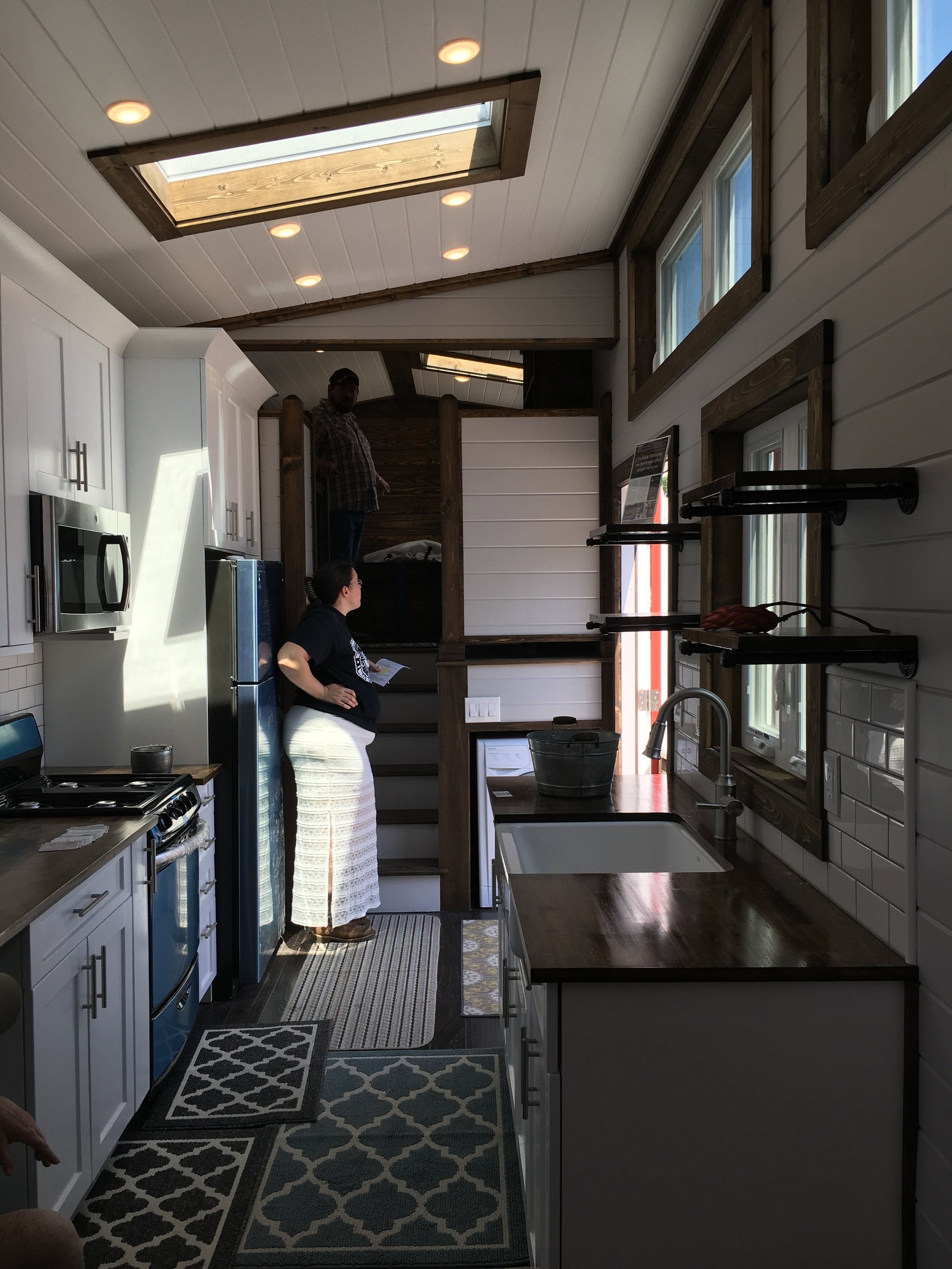 Gorgeous interior of a HUGE tiny home (oxymoron, I know) built by  Tiny House Chattanooga.
