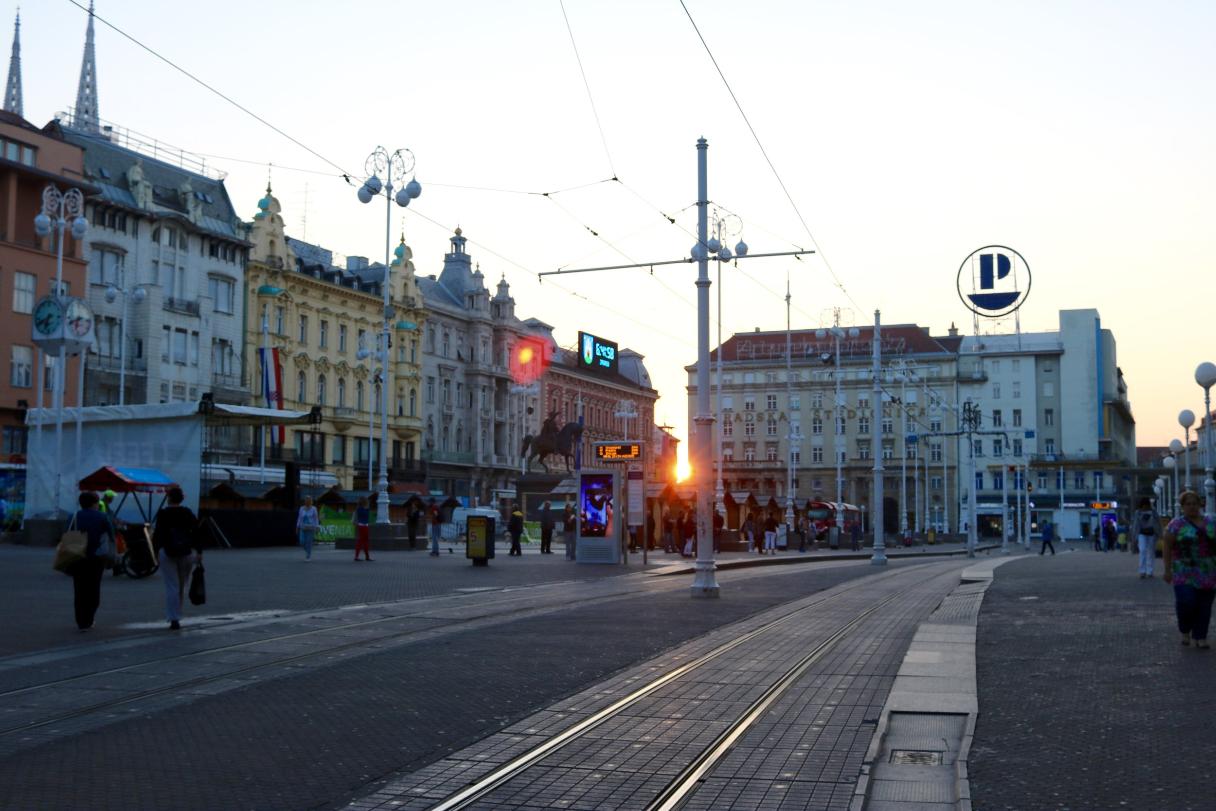 Zagreb at sunrise. You didn't think I got up that early, did you?