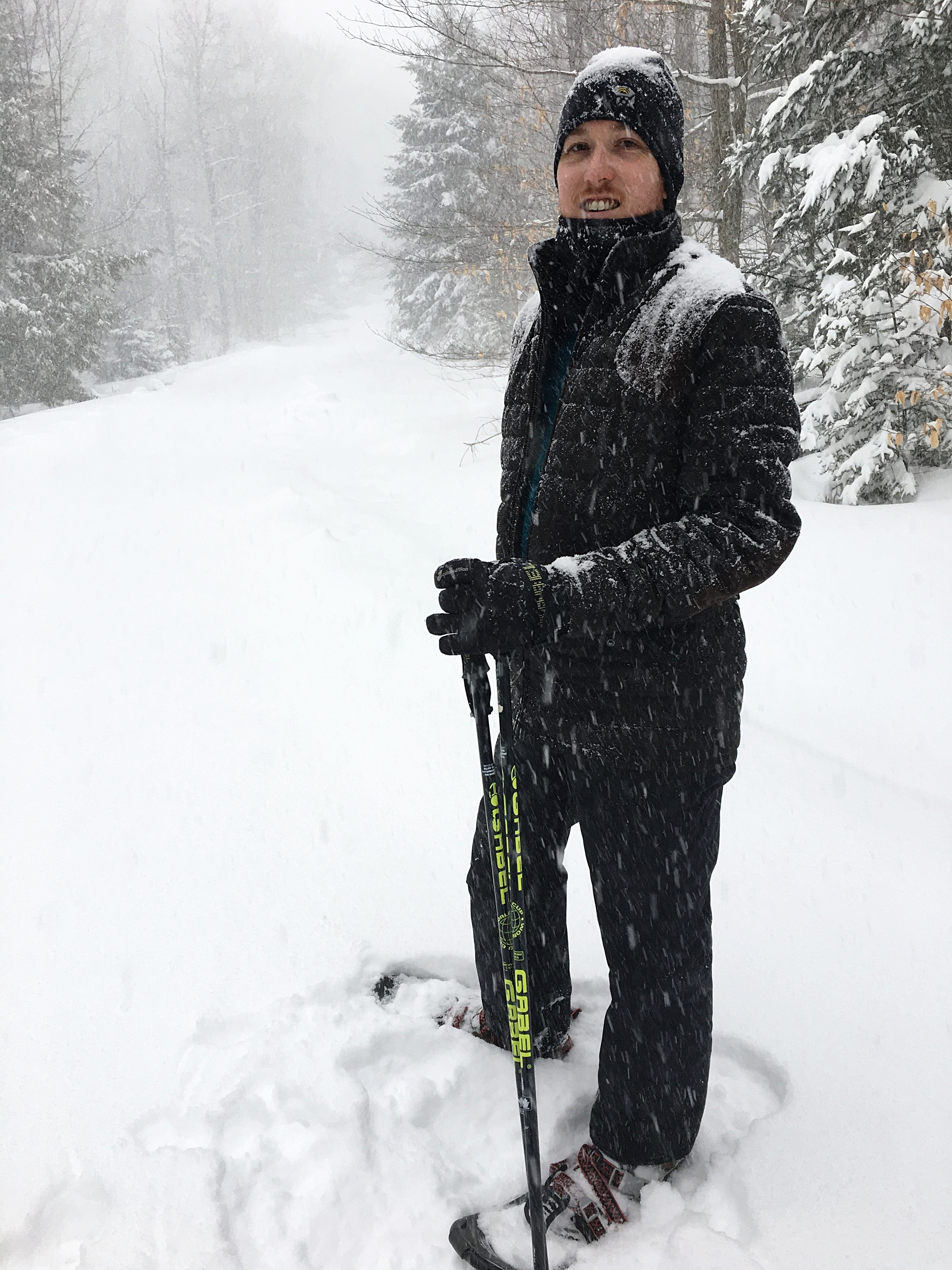 A little too south and warm for snowshoeing these days, but you get the idea.