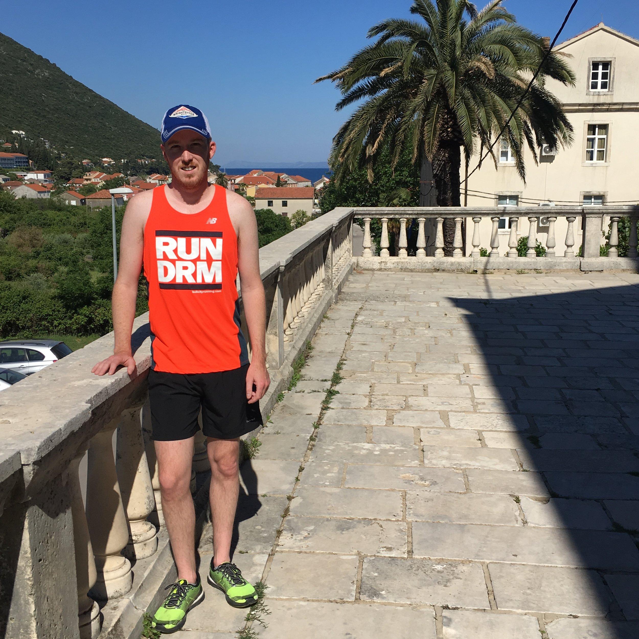 Post-run in Trpanj, Croatia.