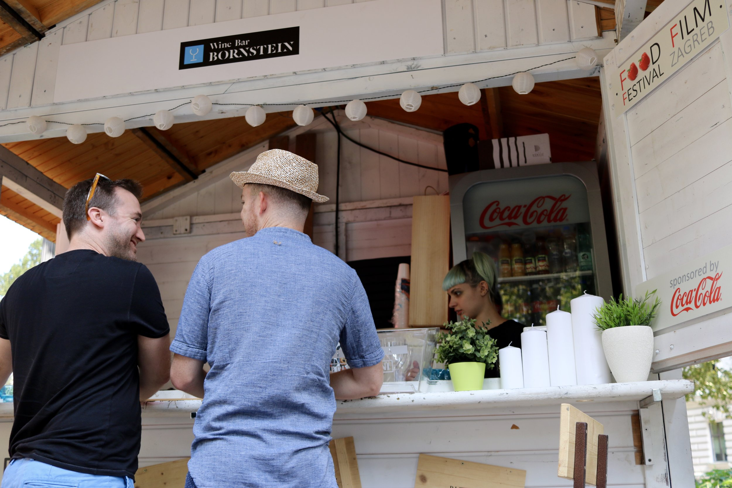 Great find - a pop-up wine bar at an outdoor festival in Zagreb!