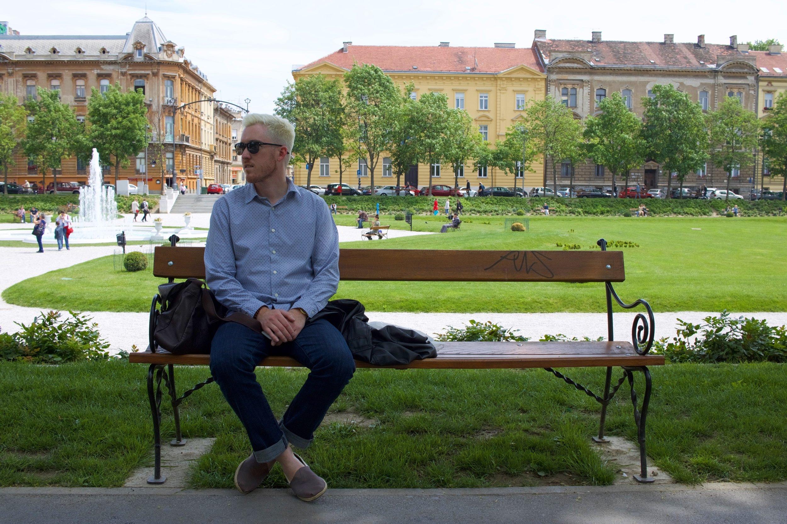Taking a break for a little fjaka in Zagreb.