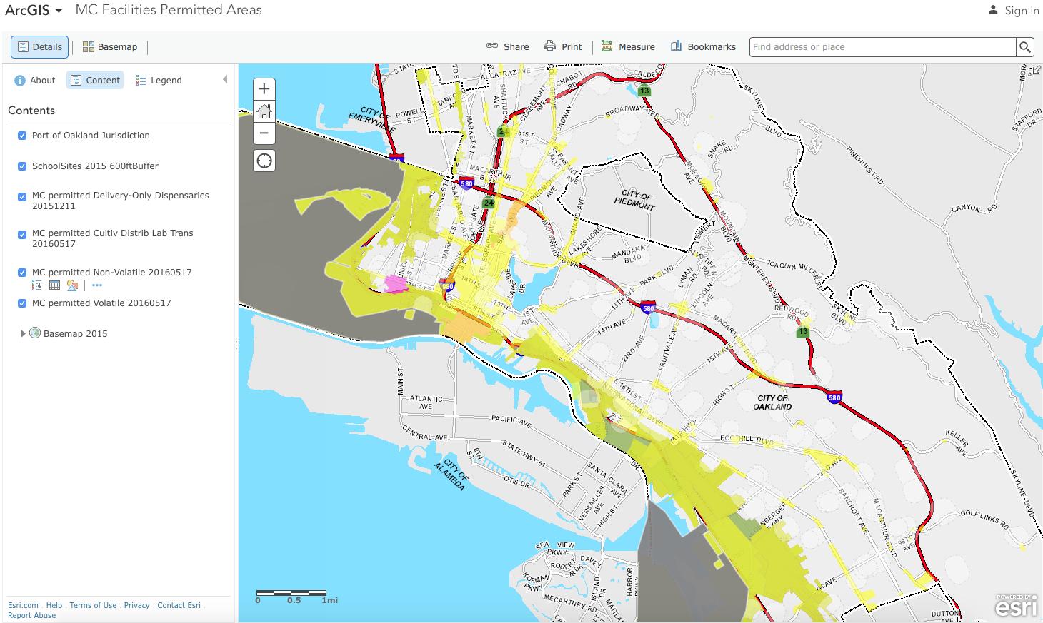 Oakland Cannabis Map
