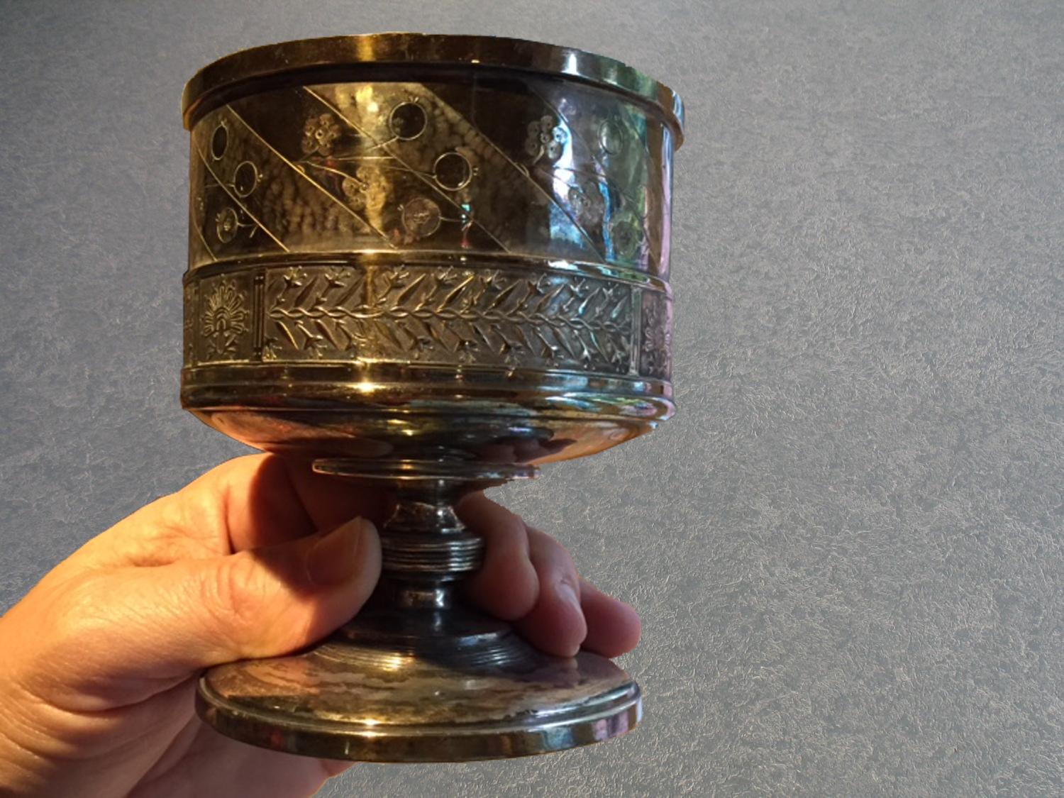 tarnished Reed & Barton chalice