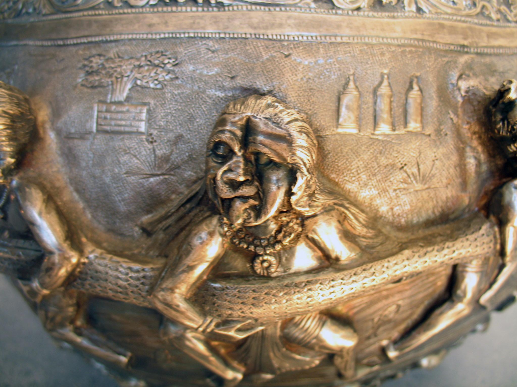 Burmese-silver-bowl-dented-face