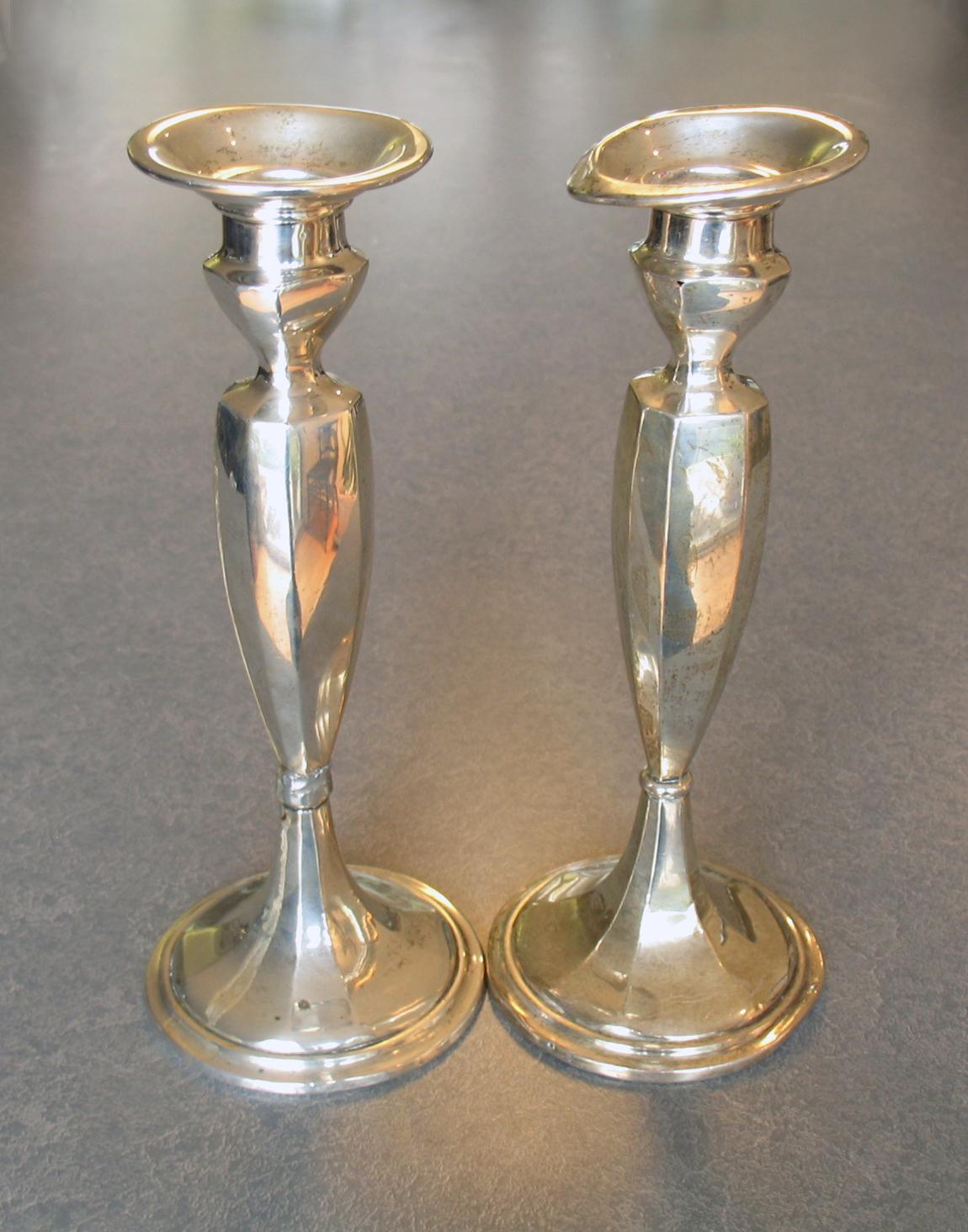 bent-mishapen-candlecup-sterling-candlesticks