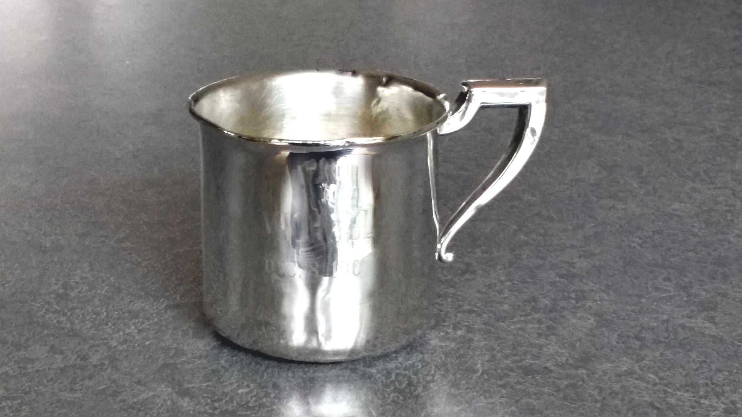 Sterling silver baby cup repair