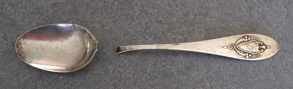 sterling silver spoon broken in two pieces is a family heirloom waiting for repair
