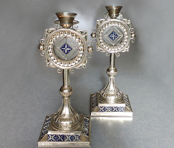 New-Mexican-tin-candlesticks-restored