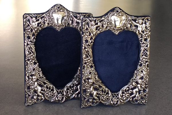 Restoration of sterling silver picture frames