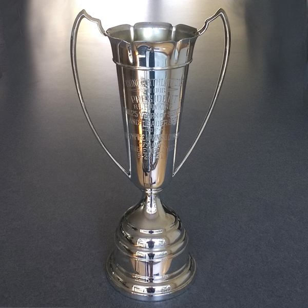 vintage silverplate trophy repaired and refinished