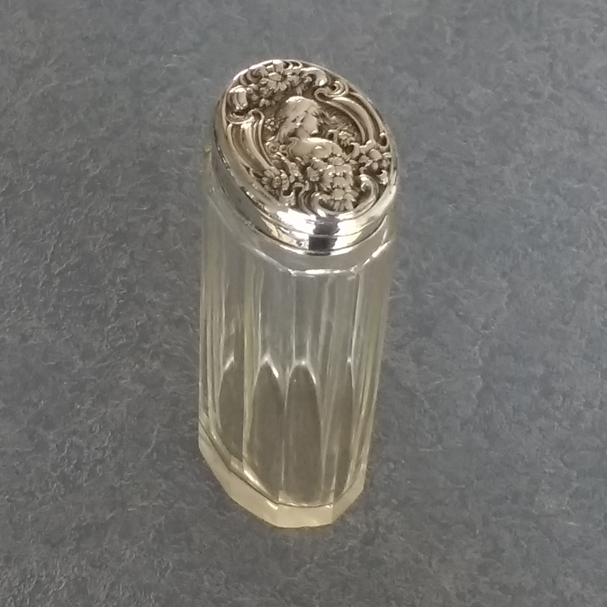 sterling silver lid was restored and the crushed side was lifted back into place